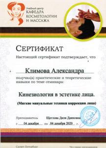 Сертификат Климова А. 2