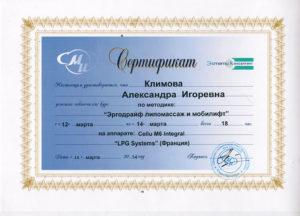 Сертификат Климова А. 5