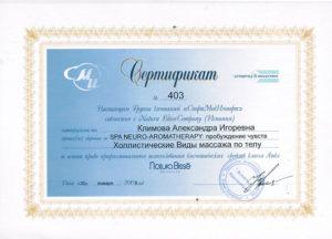 Сертификат Климова А. 10