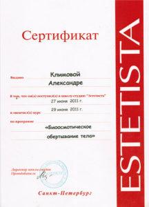 Сертификат Климова А. 12