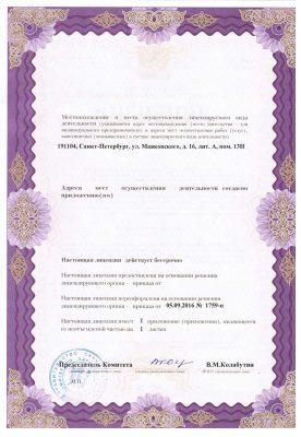Лицензия КОСМЕД 2 стр